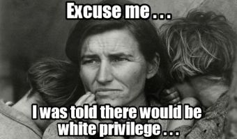 White privilege and whining your way off the cliff.