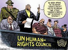"""United States of America withdraws from U.N. """"Human Rights""""Council."""